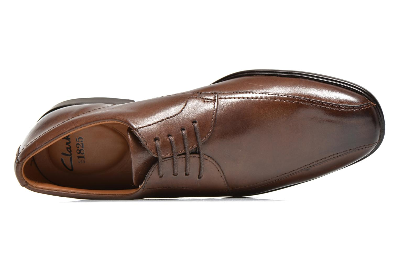 Veterschoenen Clarks Gosworth Over Bruin links