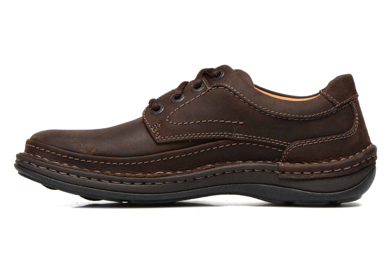 Chaussures à lacets Clarks Nature Three Marron vue face