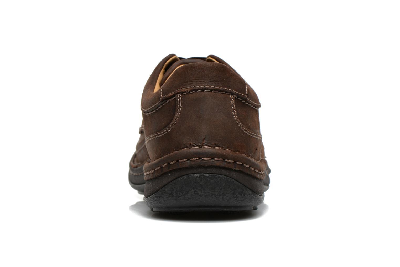 Chaussures à lacets Clarks Nature Three Marron vue droite