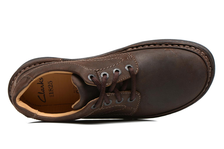 Chaussures à lacets Clarks Nature Three Marron vue gauche