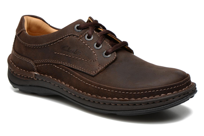Chaussures à lacets Clarks Nature Three Marron vue détail/paire