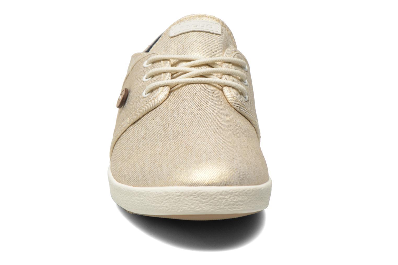 Baskets Faguo Cypress W Or et bronze vue portées chaussures