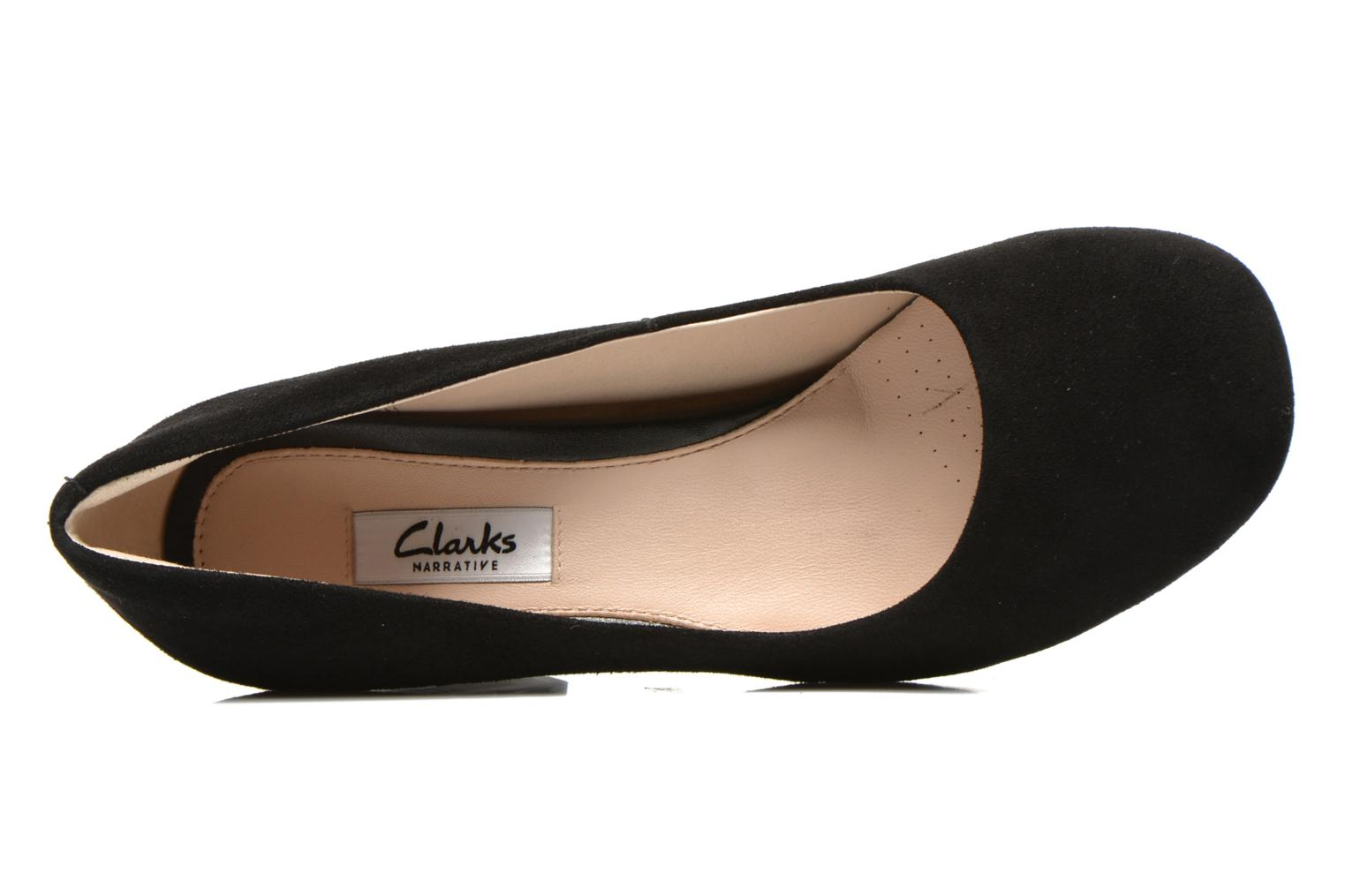 High heels Clarks Gabriel Mist Black view from the left
