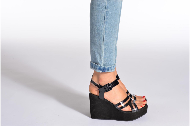 Sandales et nu-pieds Free Lance Nelfi 7 Sandlcristal Noir vue bas / vue portée sac