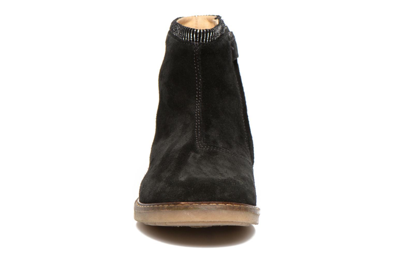 Trip boots stripes velours Noir