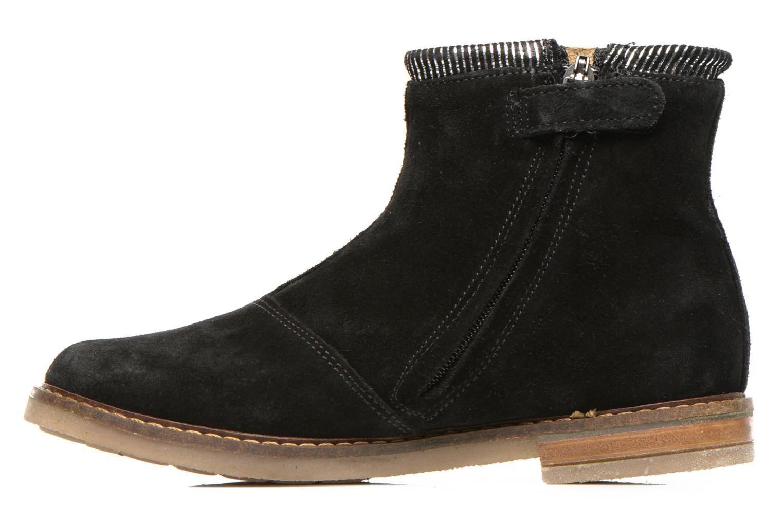 Bottines et boots Pom d Api Trip boots stripes velours Noir vue face