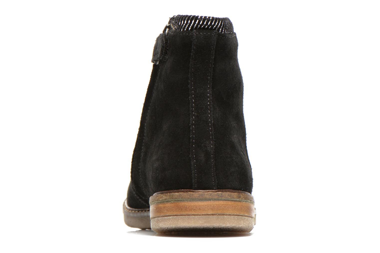 Bottines et boots Pom d Api Trip boots stripes velours Noir vue droite
