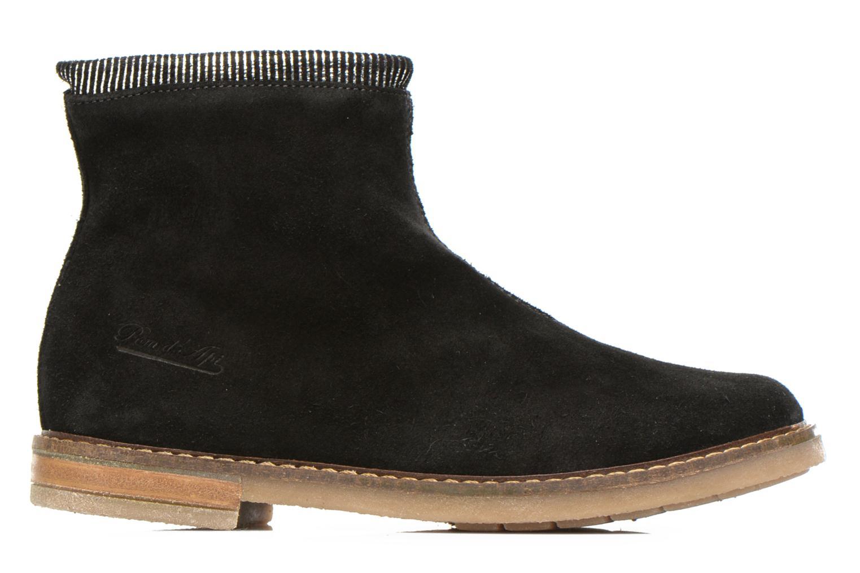 Bottines et boots Pom d Api Trip boots stripes velours Noir vue derrière