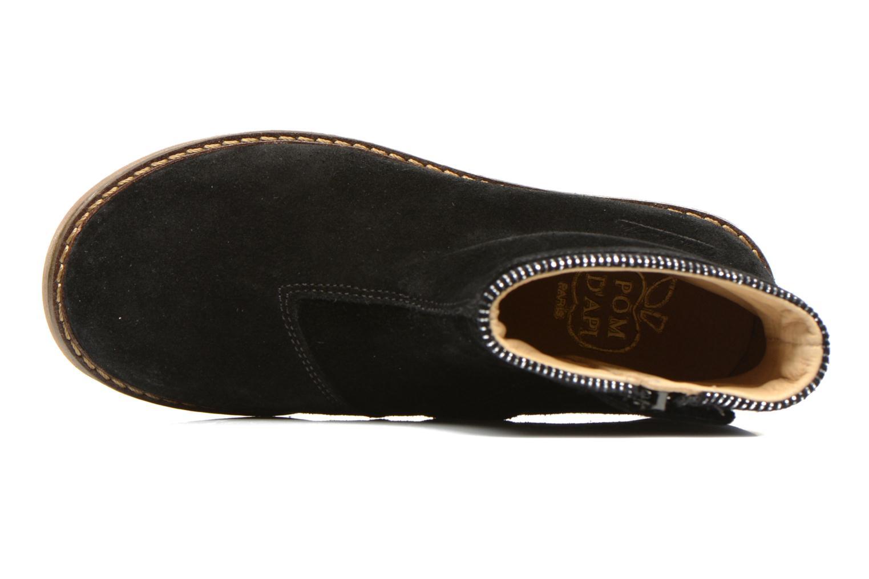 Bottines et boots Pom d Api Trip boots stripes velours Noir vue gauche