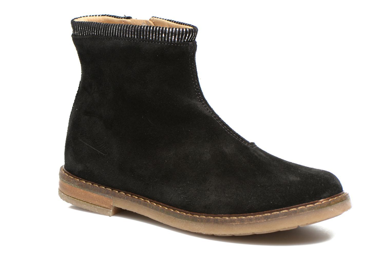 Bottines et boots Pom d Api Trip boots stripes velours Noir vue détail/paire