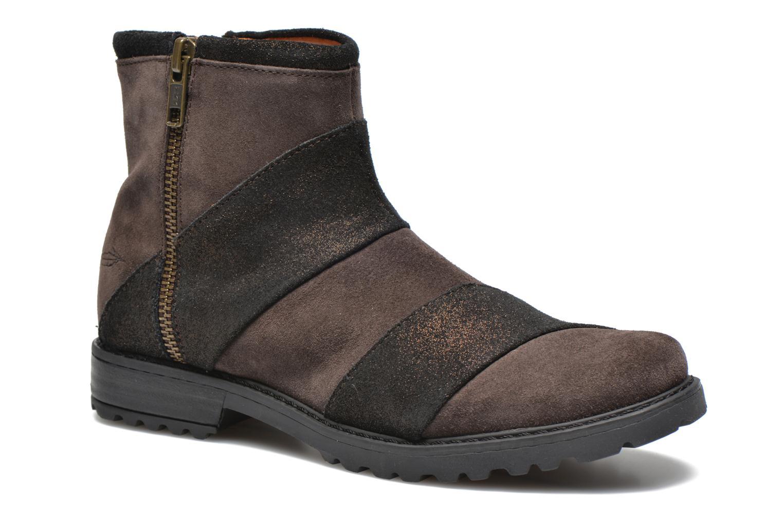 Boots en enkellaarsjes Shwik STAMPA BACK ZIP Bruin detail