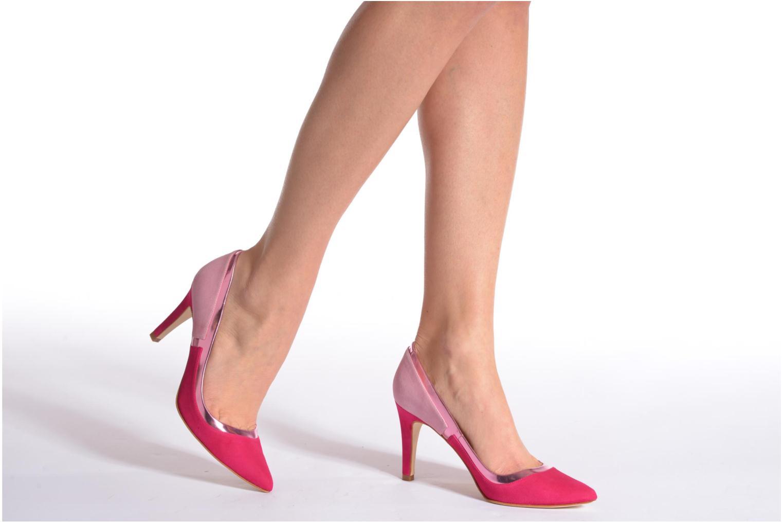 Escarpins Made by SARENZA Notting Heels #1 Rose vue bas / vue portée sac