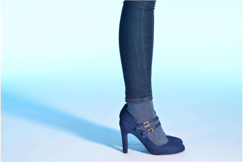 Escarpins Made by SARENZA Flore Thirties #8 Bleu vue bas / vue portée sac