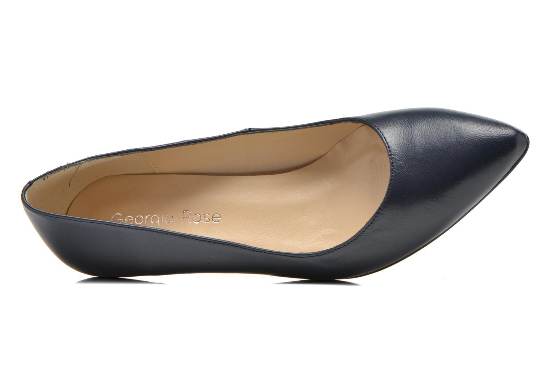 Zapatos de tacón Georgia Rose Sanua Azul vista lateral izquierda