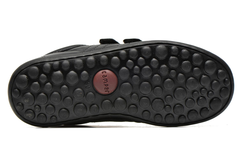 Chaussures à scratch Camper Pelotas Ariel Kids Noir vue haut