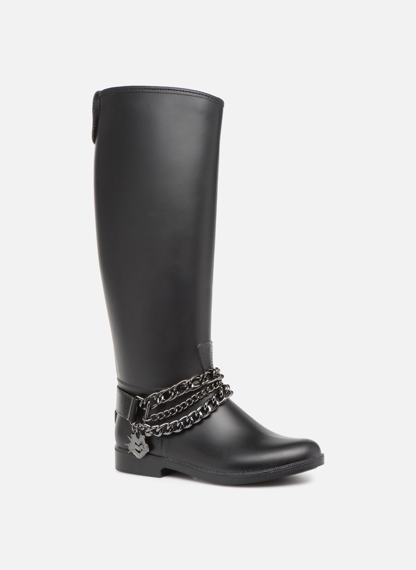 Marques Chaussure luxe femme Love Moschino femme Rain chain boot BLACK000