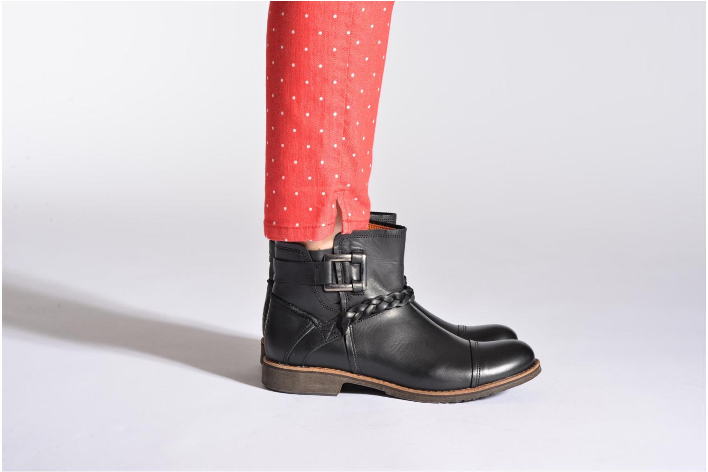 Bottines et boots TBS Melina Noir vue bas / vue portée sac