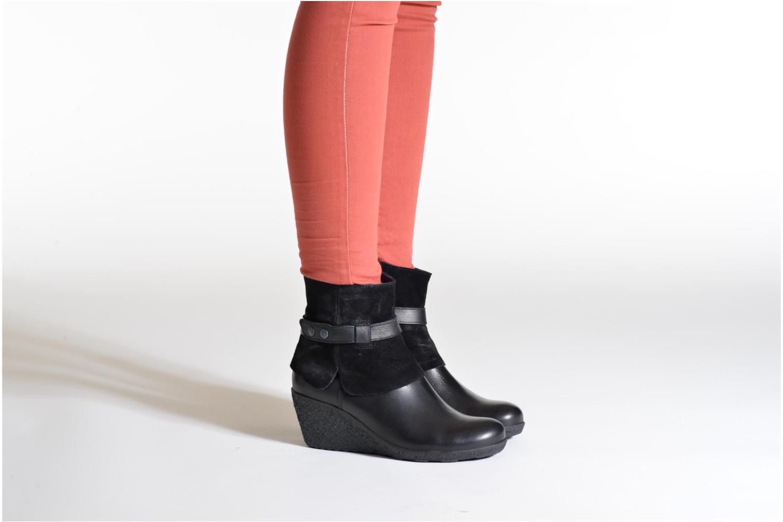Bottines et boots TBS Wester Noir vue bas / vue portée sac