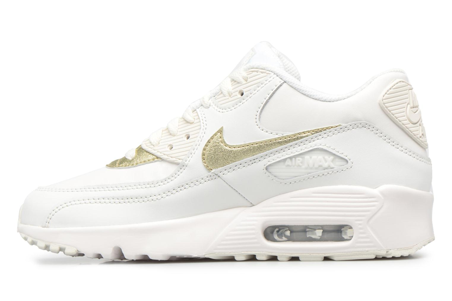 Nike Air Max 90 Ltr (Gs) Summit White/Mtlc Gold Star