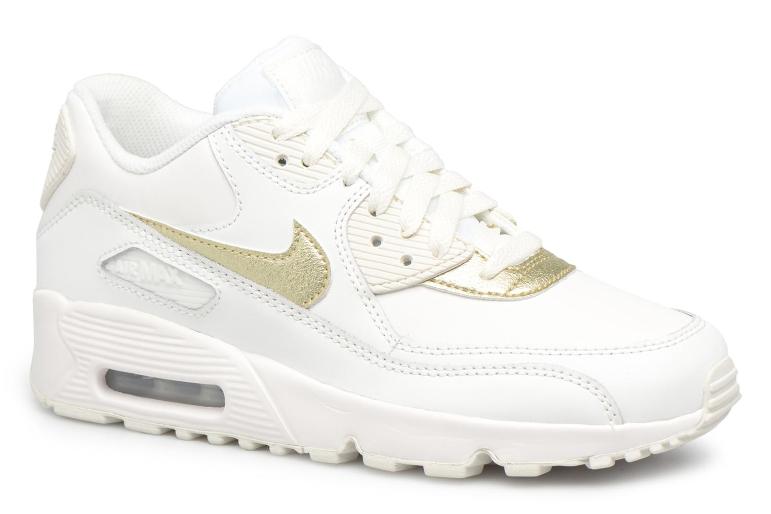 Trainers Nike Nike Air Max 90 Ltr (Gs) White detailed view/ Pair view