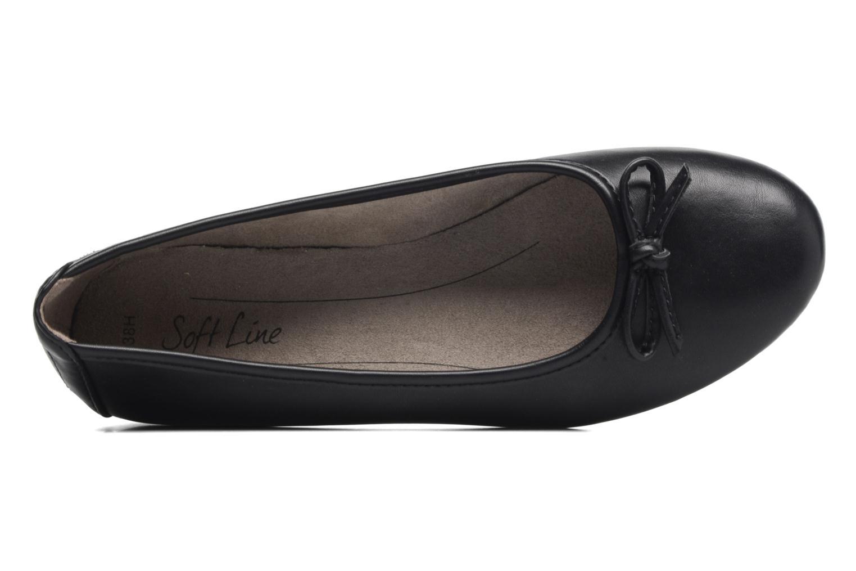 Bailarinas Jana shoes Aciego Negro vista lateral izquierda