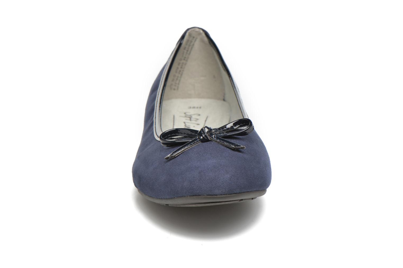 Ballerines Jana shoes Aciego Bleu vue portées chaussures