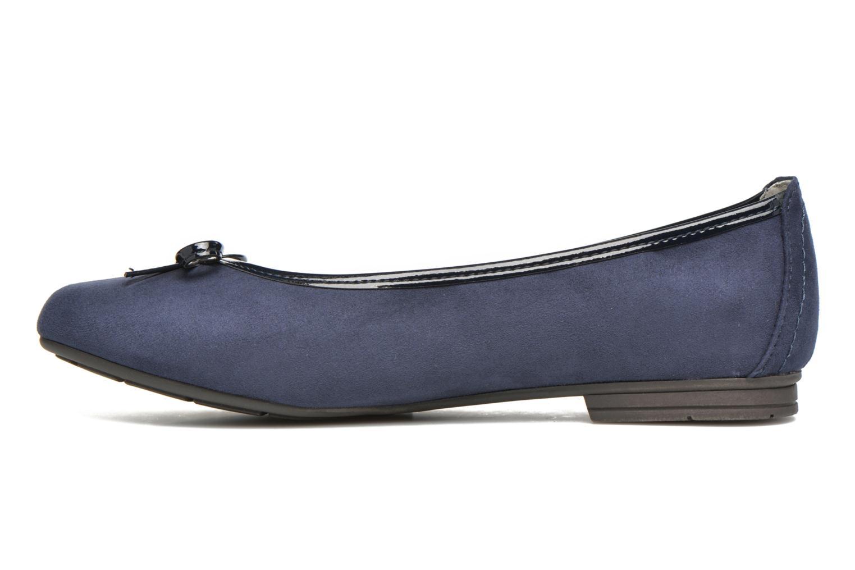 Bailarinas Jana shoes Aciego Azul vista de frente