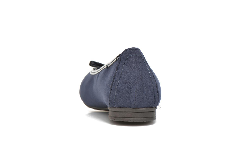 Ballerinas Jana shoes Aciego blau ansicht von rechts