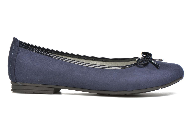 Ballerines Jana shoes Aciego Bleu vue derrière