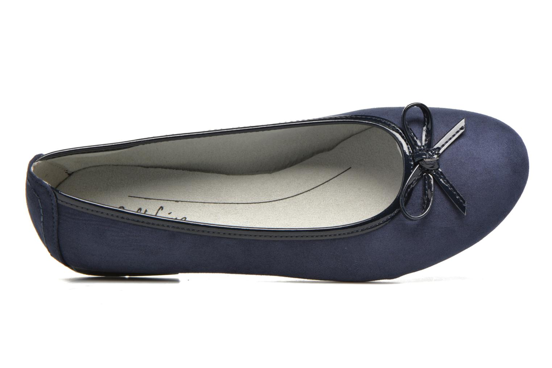 Ballerinas Jana shoes Aciego blau ansicht von links