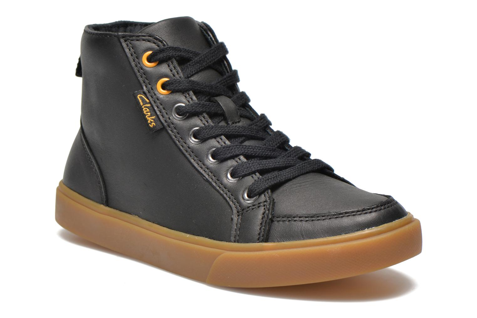 Club Jive Black Combi Leather