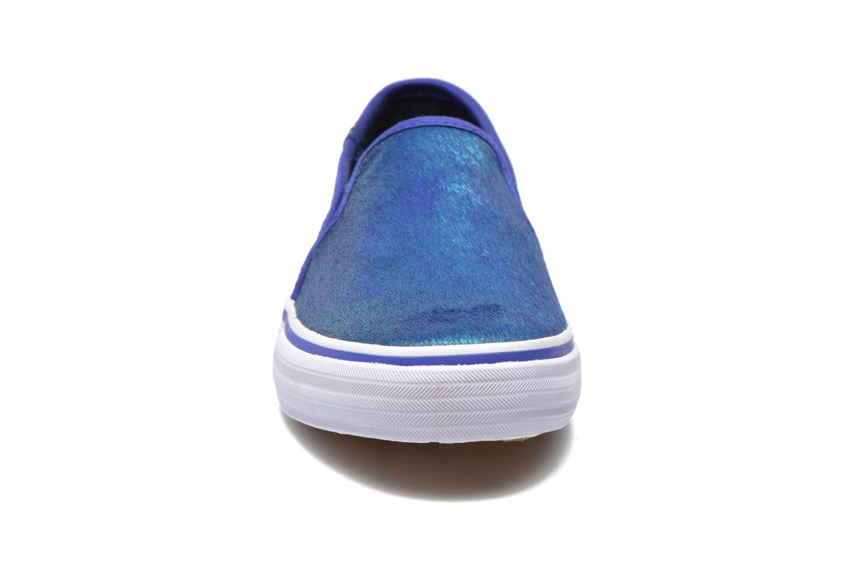 Baskets Keds DOUBLE DECKER MET FAUX PONY Bleu vue portées chaussures