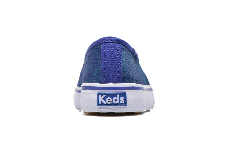 Baskets Keds DOUBLE DECKER MET FAUX PONY Bleu vue droite