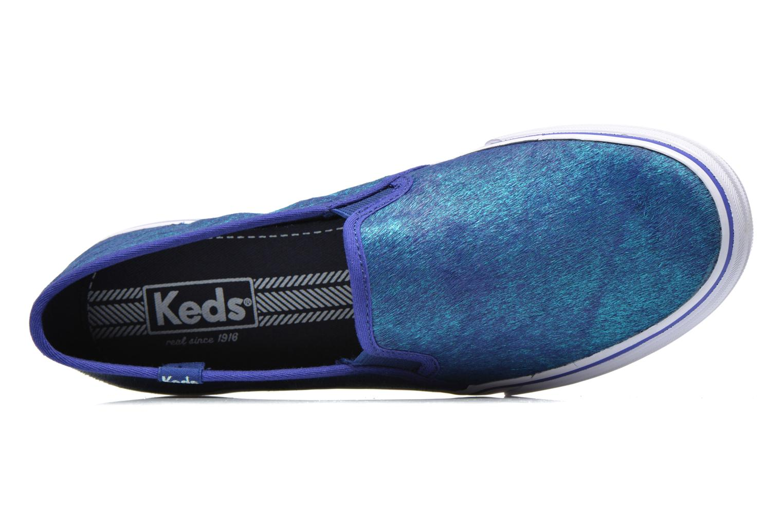 Baskets Keds DOUBLE DECKER MET FAUX PONY Bleu vue gauche