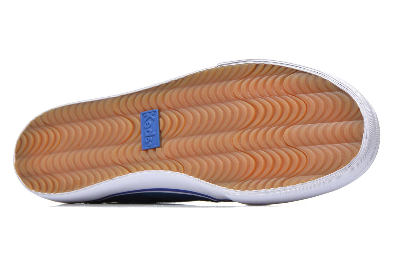 Baskets Keds DOUBLE DECKER MET FAUX PONY Bleu vue haut