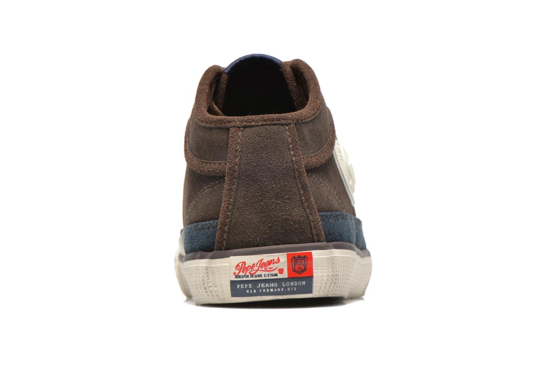 Baskets Pepe jeans Industry Half Marron vue droite