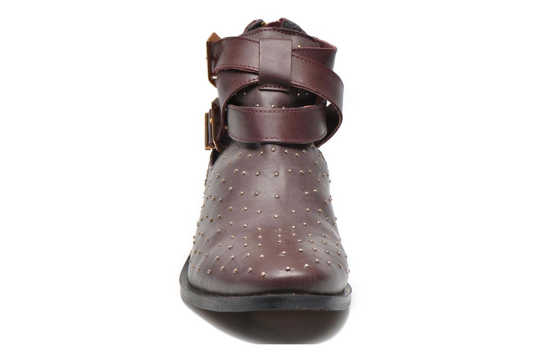 Bottines et boots Pepe jeans Angie Vintage Bordeaux vue portées chaussures