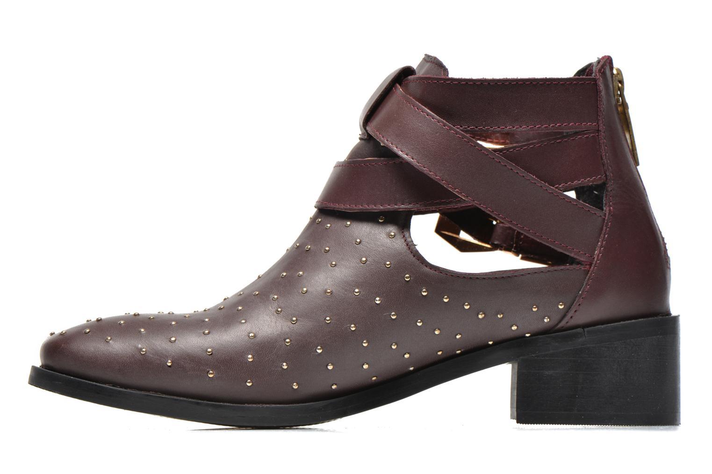 Bottines et boots Pepe jeans Angie Vintage Bordeaux vue face