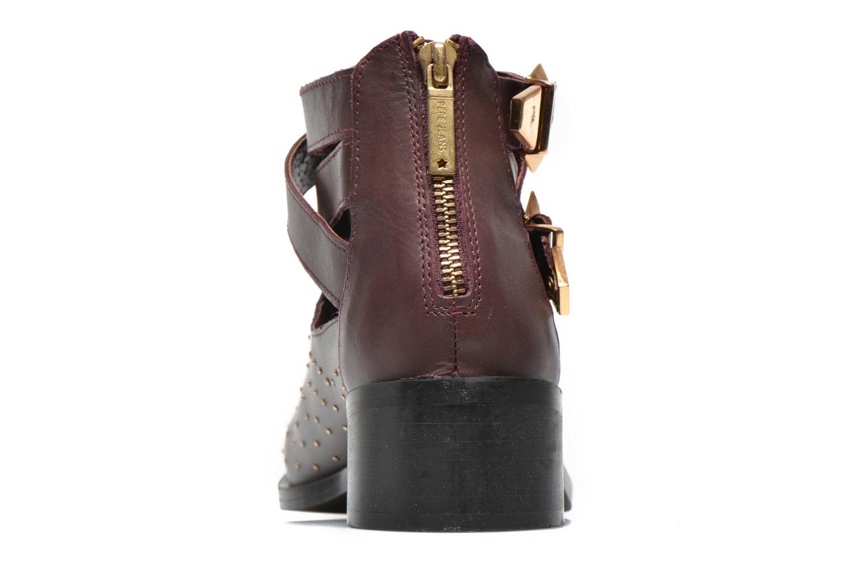 Bottines et boots Pepe jeans Angie Vintage Bordeaux vue droite