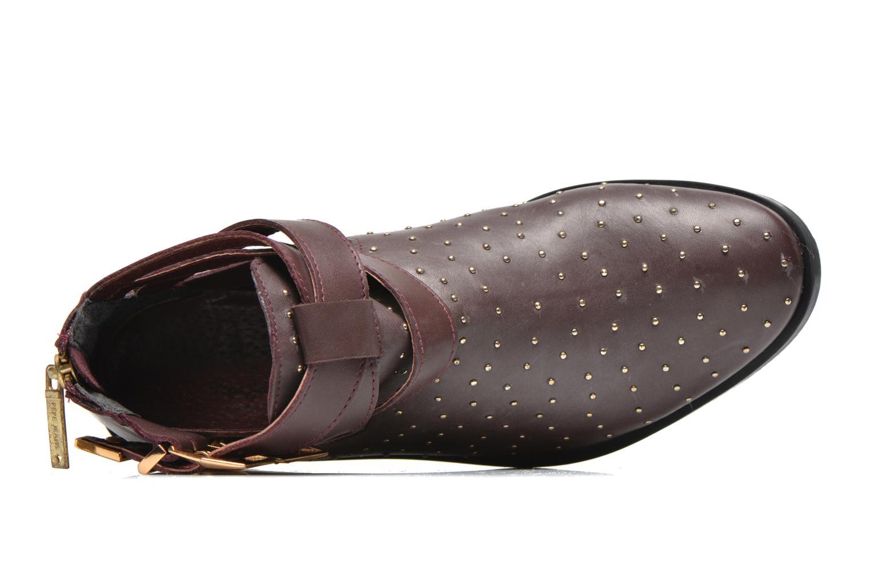 Bottines et boots Pepe jeans Angie Vintage Bordeaux vue gauche