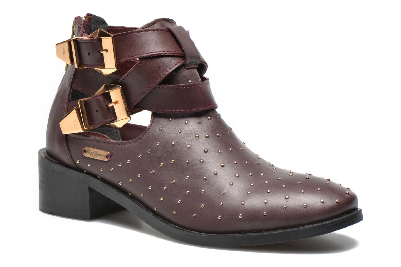 Bottines et boots Pepe jeans Angie Vintage Bordeaux vue détail/paire
