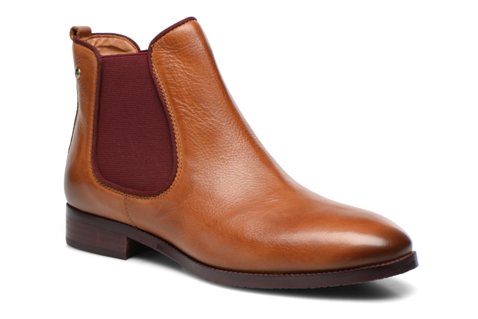Ankle boots Pikolinos Royal W4D-8637 Brown detailed view/ Pair view