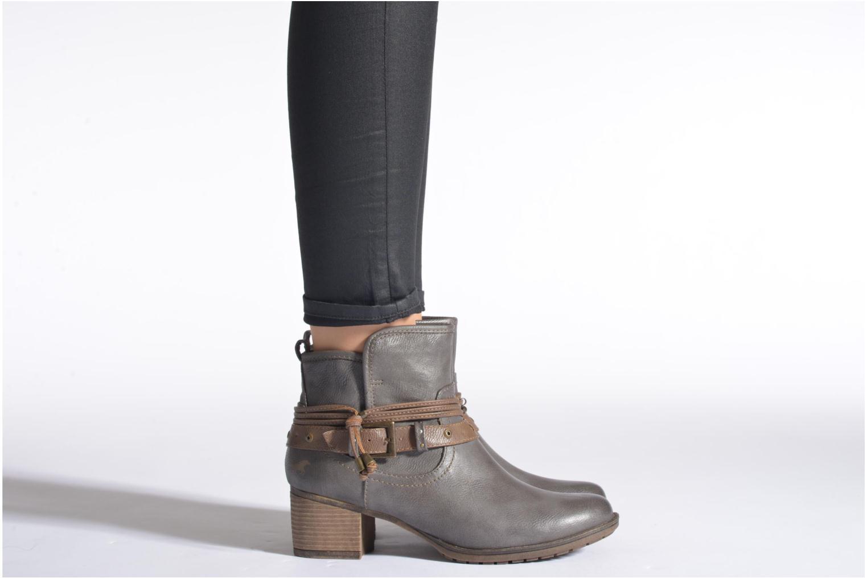 Bottines et boots Mustang shoes Hillun Gris vue bas / vue portée sac