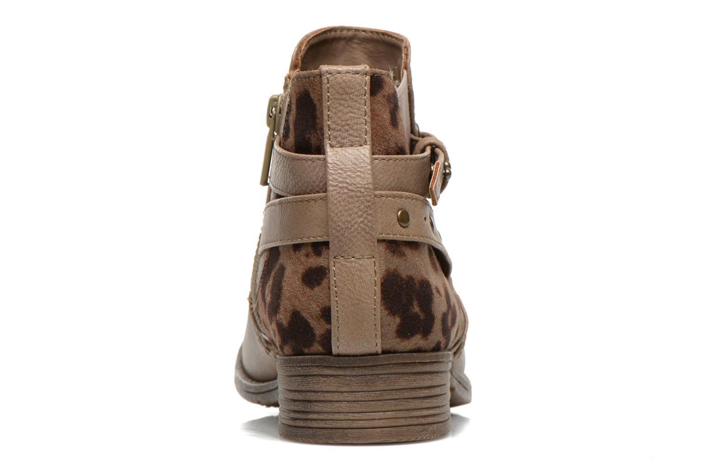 Bottines et boots Mustang shoes Lienos Beige vue droite