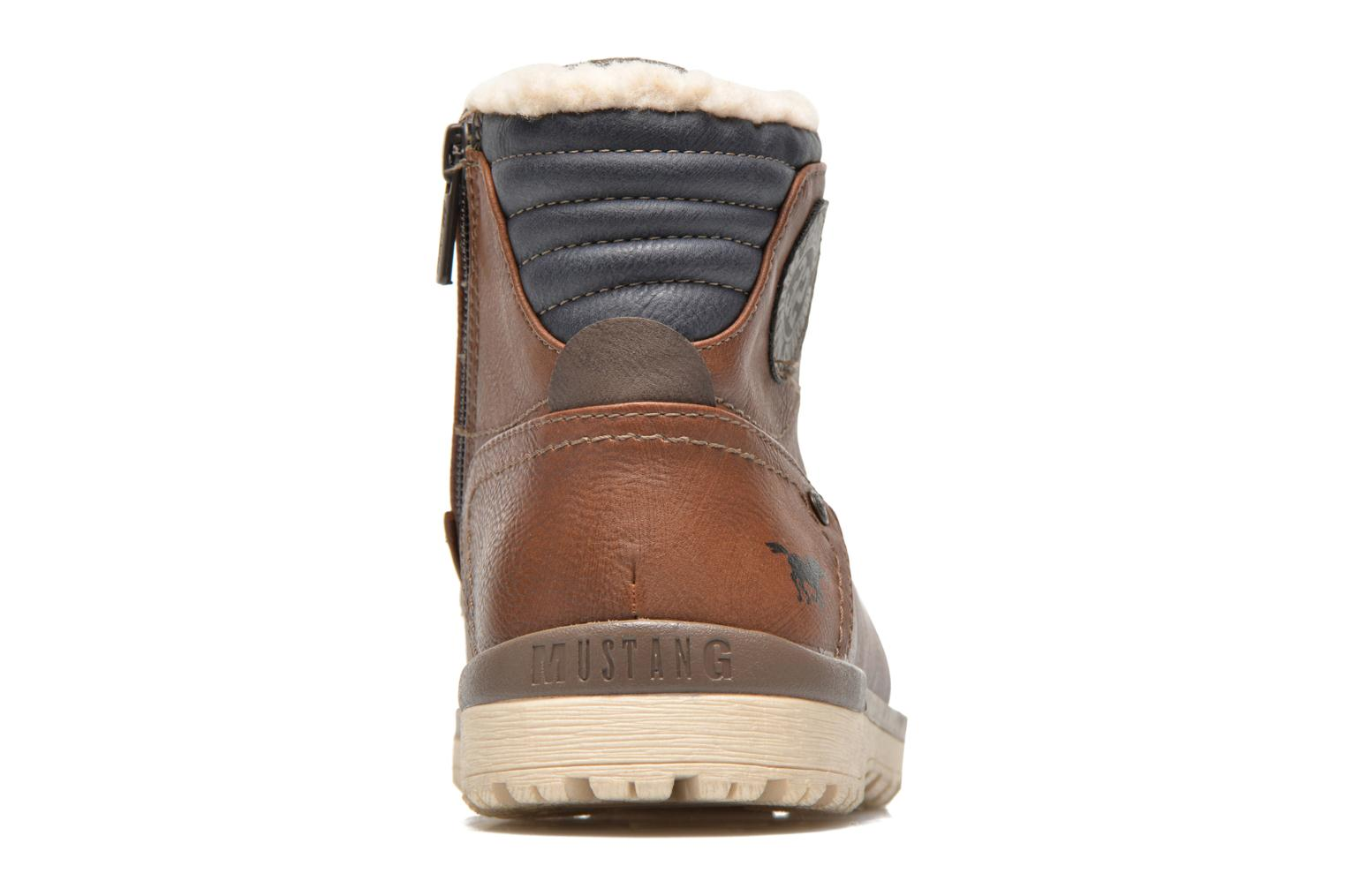 Ankle boots Mustang shoes Legsar Brown view from the right