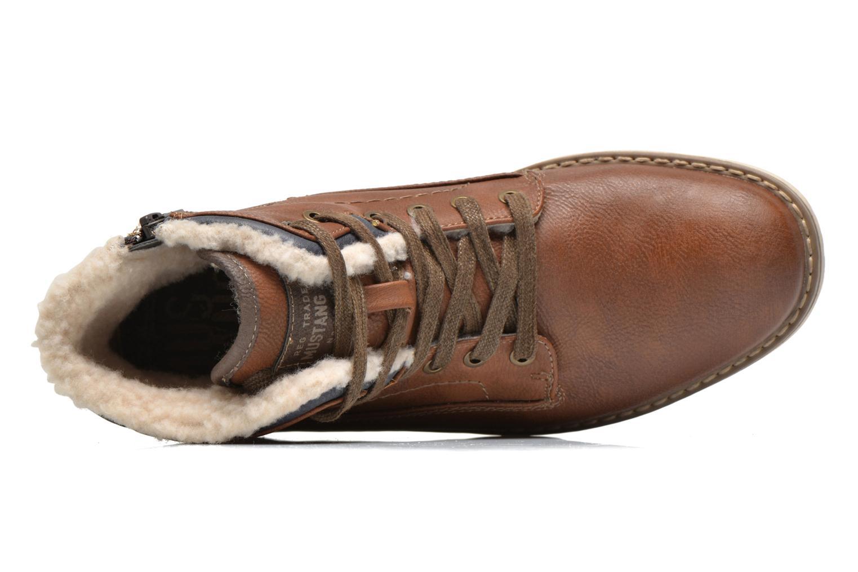 Bottines et boots Mustang shoes Legsar Marron vue gauche