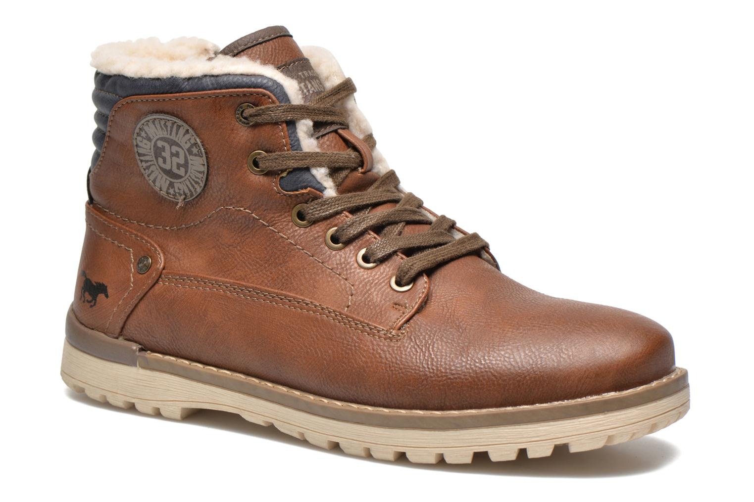Ankle boots Mustang shoes Legsar Brown detailed view/ Pair view