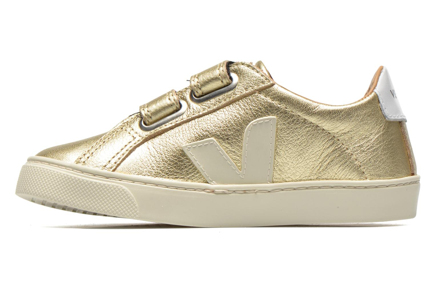 Sneakers Veja Esplar Small Velcro Leather Goud en brons voorkant