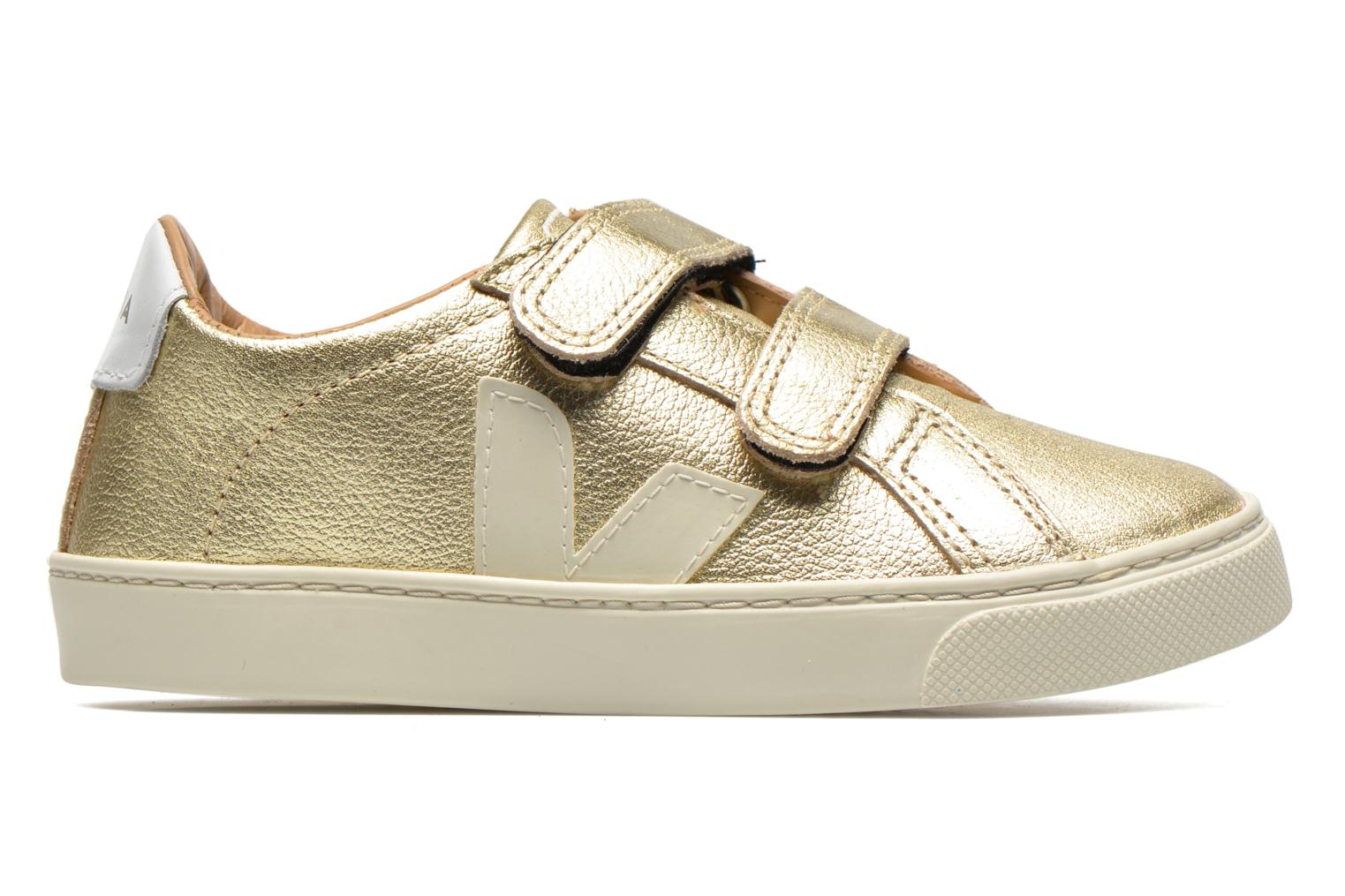 Trainers Veja Esplar Small Velcro Leather Bronze and Gold back view