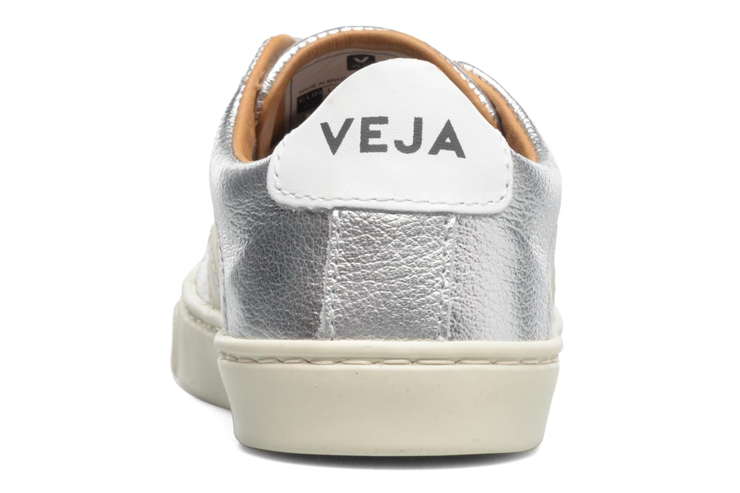 Trainers Veja Esplar Small Velcro Leather Silver view from the right